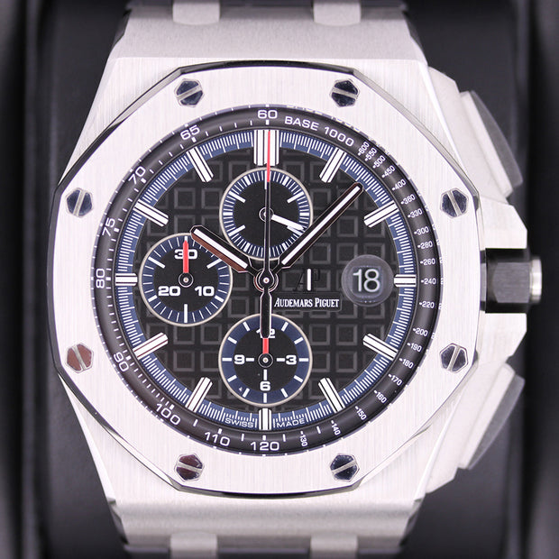 Audemars Piguet Limited Edition Royal Oak Offshore Chronograph 44mm 26412PO Black dial - First Class Timepieces