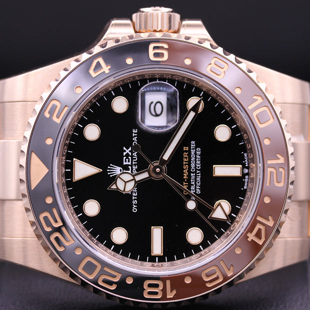 "Rolex GMT-Master II ""Rootbeer"" 40mm 126715CHNR Black Dial"