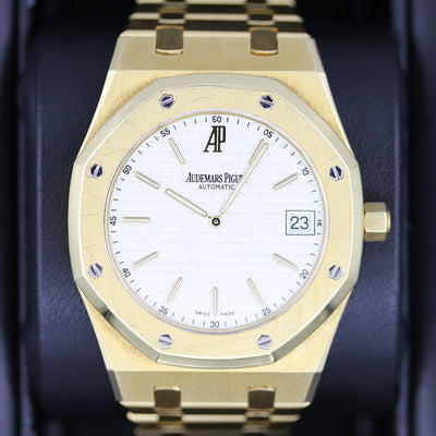 "Audemars Piguet Royal Oak ""Jumbo"" Extra-Thin 39mm 15202BA White Dial Pre-Owned"