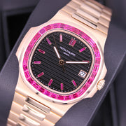 Patek Philippe Nautilus 40mm 5711/1R Custom Ruby Setting Brown Dial Pre-Owned