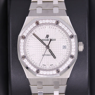 Audemars Piguet Limited Edition QEII CUP 2017 Royal Oak 37mm 15453IP Diamond White Dial Pre-Owned