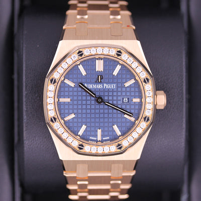 Audemars Piguet Royal Oak Quartz 33mm 67651OR Blue Dial Pre-Owned