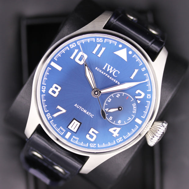 "IWC Limited Edition Big Pilot ""Le Petit Prince"" 46mm IW500908 Blue Dial Pre-Owned"