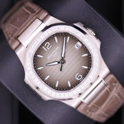 Patek Philippe Nautilus Quartz 32mm 7010G-012 Grey / Brown Dial Pre-Owned