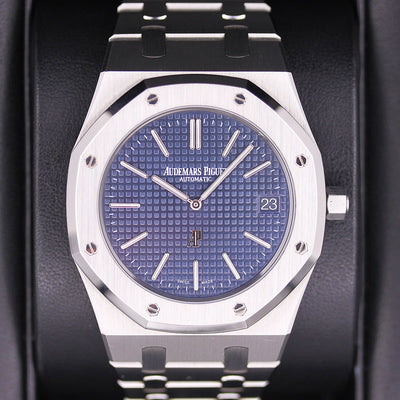 "Audemars Piguet Royal Oak ""Jumbo"" Extra-Thin 39mm 15202ST Blue Dial Pre-Owned"
