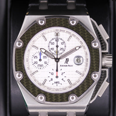 "Audemars Piguet Limited Edition ""Juan Pablo Montoya"" Royal Oak Offshore Chronograph 44mm 26030IO Pre-Owned"