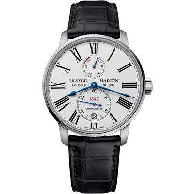 Ulysse Nardin Marine Torpilleur 42mm 1183-310/40 White Lacquered Dial