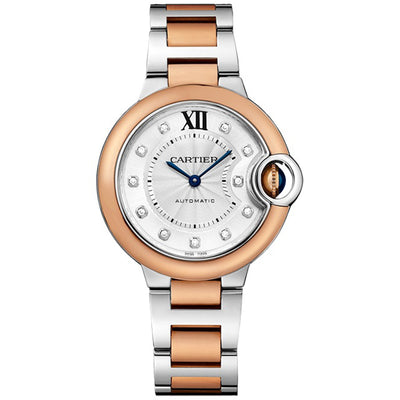 Cartier Ballon Bleu De Cartier 33mm WSBB0020 Silver Diamond Dial