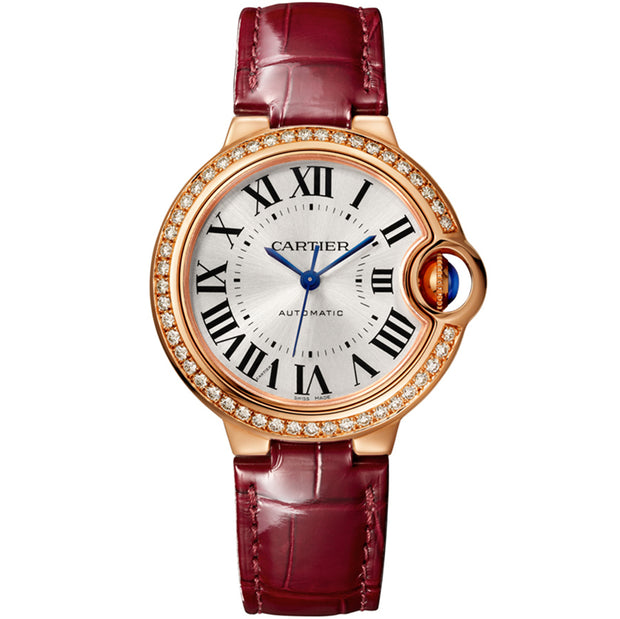Cartier Ballon Bleu De Cartier 33mm WJBB0033 Silvered Sunray-Brushed Dial