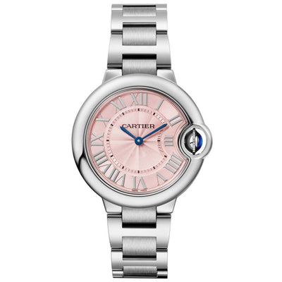 Cartier Ballon Bleu De Cartier 33mm Quartz WSBB0033 Pink Dial