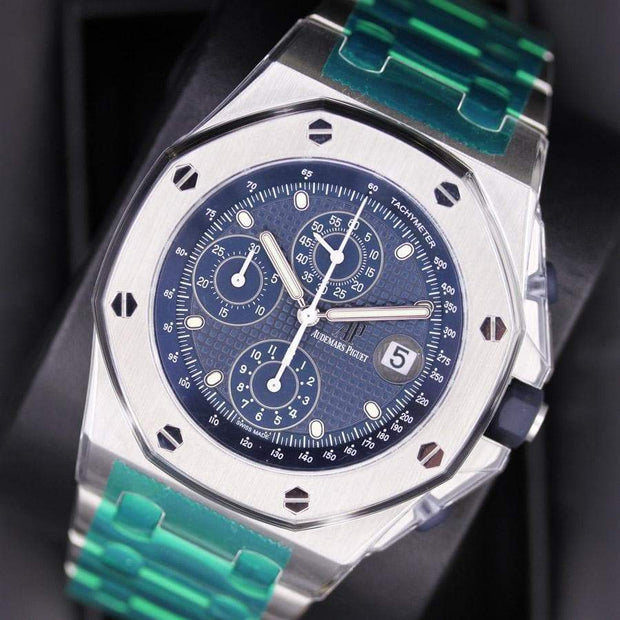 Audemars Piguet 25th Anniversary Edition Royal Oak Offshore Chronograph 42mm 26237ST Blue Dial-First Class Timepieces