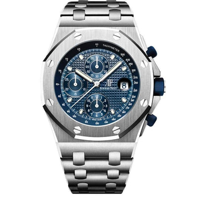 Audemars Piguet 25th Anniversary Edition Royal Oak Offshore Chronograph 42mm 26237ST Blue Dial - First Class Timepieces