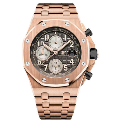 "Audemars Piguet ""Brick"" Royal Oak Offshore Chronograph 42mm 26470OR Grey Dial - First Class Timepieces"