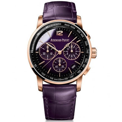 Audemars Piguet Code 11.59 41mm 26393OR Purple Dial-First Class Timepieces