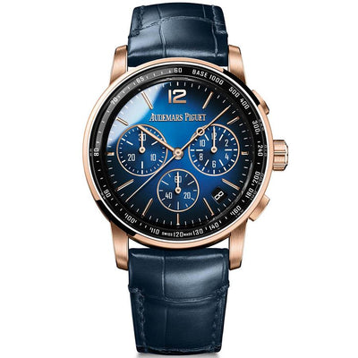 Audemars Piguet Code 11.59 41mm 26393OR Smoked Blue Dial-First Class Timepieces