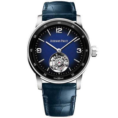 Audemars Piguet Code 11.59 Flying Tourbillon 41mm 26396BC Blue Smoked Enamel Dial-First Class Timepieces