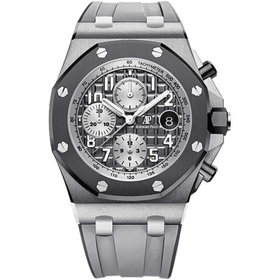 "Audemars Piguet ""Ghost"" Royal Oak Offshore Chronograph 42mm 26470IO Slate Grey Dial - First Class Timepieces"