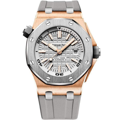 Audemars Piguet Limited Edition Japan Royal Oak Offshore Diver 15711IO 42mm Grey Dial - First Class Timepieces