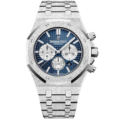 Audemars Piguet Limited Edition Royal Oak Chronograph Frosted 41mm 26331BC Blue Dial-First Class Timepieces