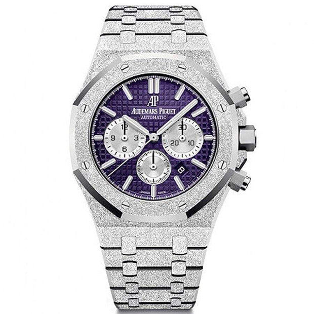 Audemars Piguet Limited Edition Royal Oak Chronograph Frosted 41mm 26331BC Purple Dial-First Class Timepieces