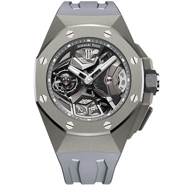 Audemars Piguet Limited Edition Royal Oak Concept Flying Tourbillon GMT 44mm 26589TI Overworked Dial-First Class Timepieces