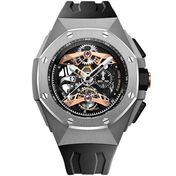 Audemars Piguet Limited Edition Royal Oak Concept Tourbillon Chronograph 44mm 26612TI Overworked Dial-First Class Timepieces