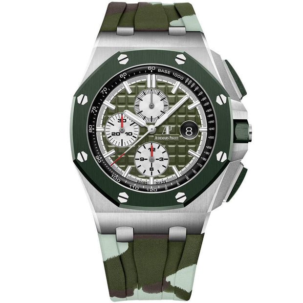 Audemars Piguet Limited Edition Royal Oak Offshore Chronograph 44mm 26400SO Khaki Green Dial-First Class Timepieces