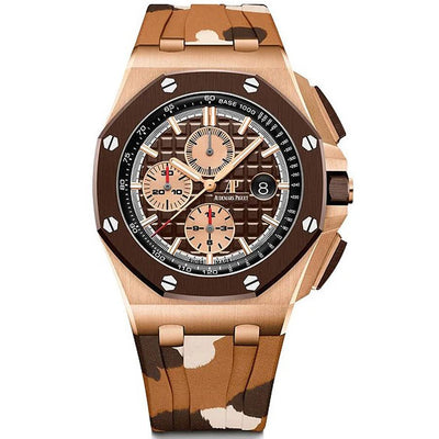 Audemars Piguet Limited Edition Royal Oak Offshore Chronograph 44mm 26401RO Brown Dial-First Class Timepieces