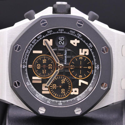 "Audemars Piguet Limited Edition Royal Oak Offshore Chronograph ""57th Street"" 42mm 26298SK Black Dial Pre-Owned-First Class Timepieces"