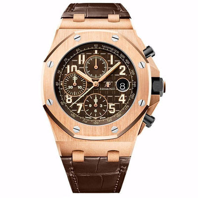 Audemars Piguet Limited Edition Royal Oak Offshore Chronograph 42mm 26470OR Chocolate Dial - First Class Timepieces