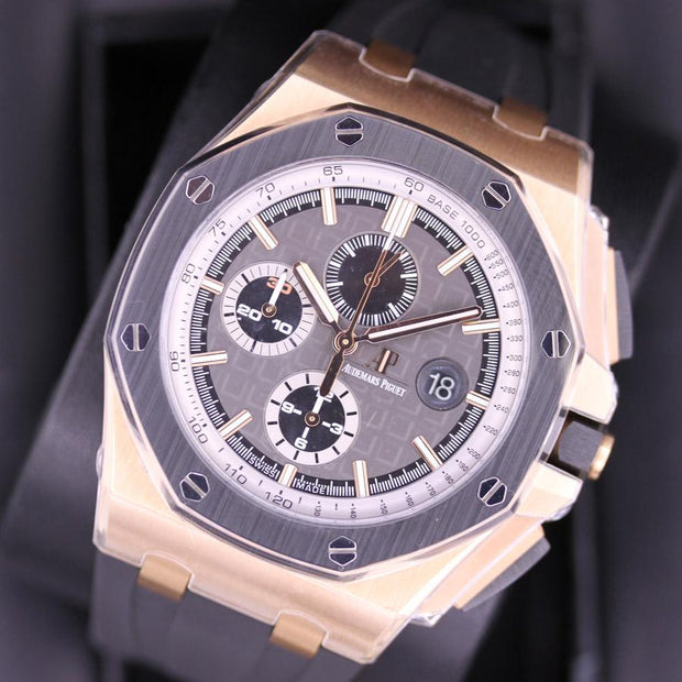 "Audemars Piguet Limited Edition Royal Oak Offshore Chronograph ""Pride Of Germany"" 44mm 26416RO Grey Dial-First Class Timepieces"