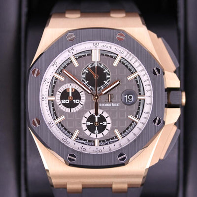 "Audemars Piguet Limited Edition Royal Oak Offshore Chronograph ""Pride Of Germany"" 44mm 26416RO Grey Dial Pre-Owned-First Class Timepieces"