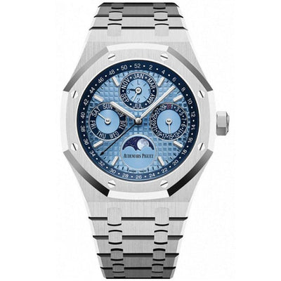 Audemars Piguet Limited Edition Royal Oak Perpetual Calendar 41mm 26574PT Blue Dial-First Class Timepieces