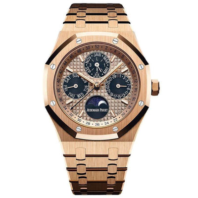 Audemars Piguet Limited Edition Royal Oak Perpetual Calendar 41mm 26584OR Pink Dial - First Class Timepieces
