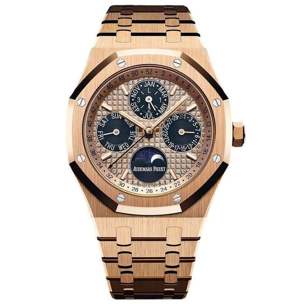 Audemars Piguet Limited Edition Royal Oak Perpetual Calendar 41mm 26584OR Pink Dial-First Class Timepieces