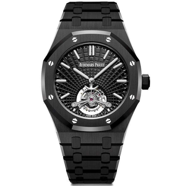 Audemars Piguet Limited Edition Royal Oak Tourbillon Extra-Thin 41mm 26522CE Black Dial-First Class Timepieces