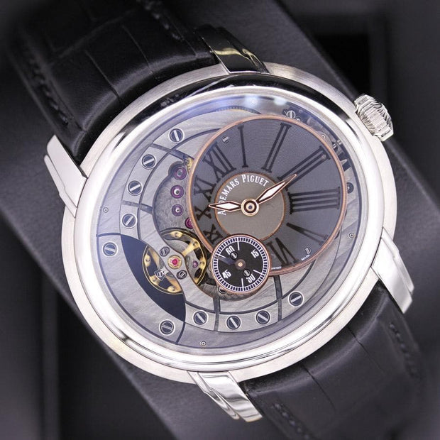 Audemars Piguet Millenary 4104 47mm 15350ST Black/Overworked Dial Pre-Owned-First Class Timepieces