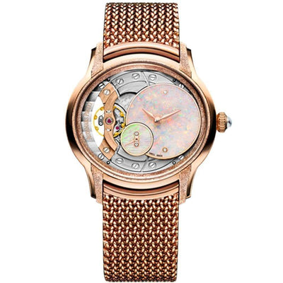 Audemars Piguet Millenary Frosted Hand-Wound 39mm 77244OR Overworked / Opal Dial - First Class Timepieces