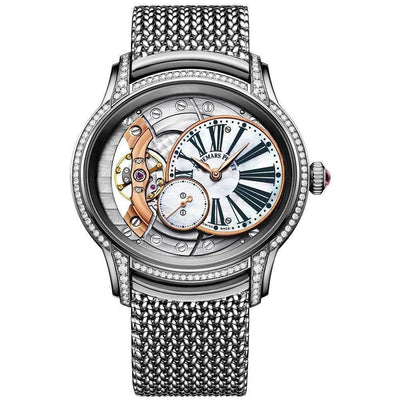 Audemars Piguet Millenary Hand-Wound 39mm 77247BC Overworked/Mother of Pearl Dial - First Class Timepieces
