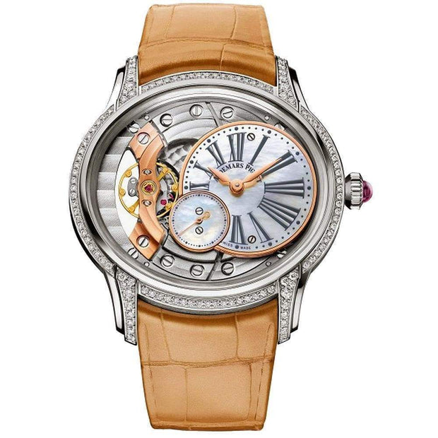 Audemars Piguet Millenary Hand-Wound 39mm 77247BC Overworked/Mother of Pearl Dial-First Class Timepieces