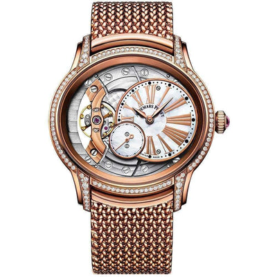 Audemars Piguet Millenary Hand-Wound 39mm 77247OR Overworked/Mother of Pearl Dial-First Class Timepieces