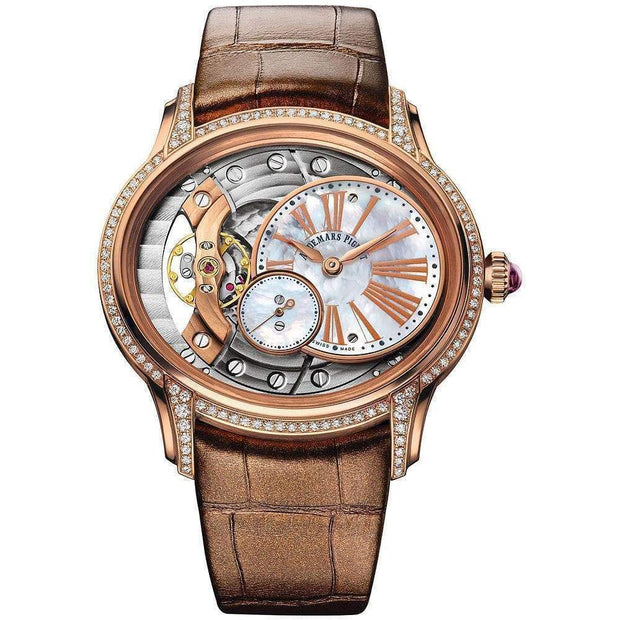 Audemars Piguet Millenary Hand-Wound 39mm 77247OR Overworked/Mother of Pearl Dial - First Class Timepieces