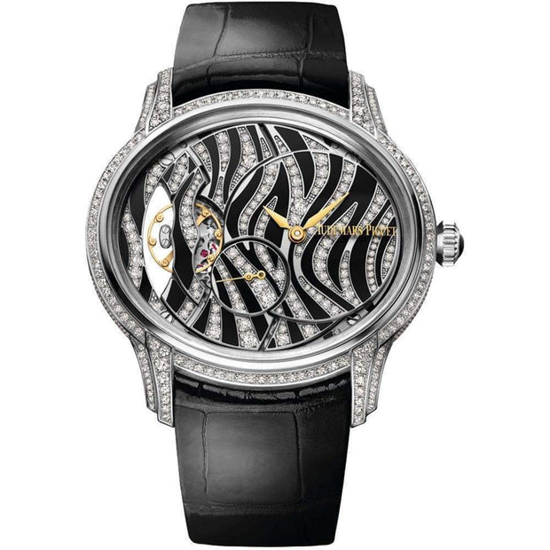 Audemars Piguet Millenary Hand-Wound 39mm 77249BC Black/Diamond Dial - First Class Timepieces