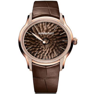 Audemars Piguet Millenary Philosophique Frosted 39mm 77266OR Brown Dial-First Class Timepieces