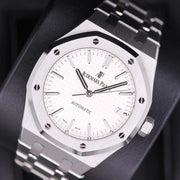 Audemars Piguet Royal Oak 37mm 15450ST White Dial Pre-Owned-First Class Timepieces