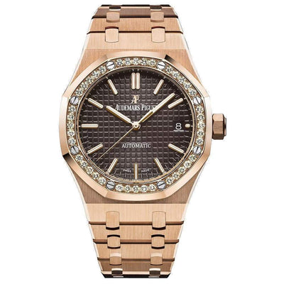 Audemars Piguet Royal Oak 37mm 15451OR Brown Dial - First Class Timepieces