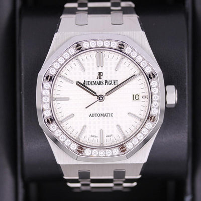 Audemars Piguet Royal Oak 37mm 15451ST White Dial Pre-Owned-First Class Timepieces