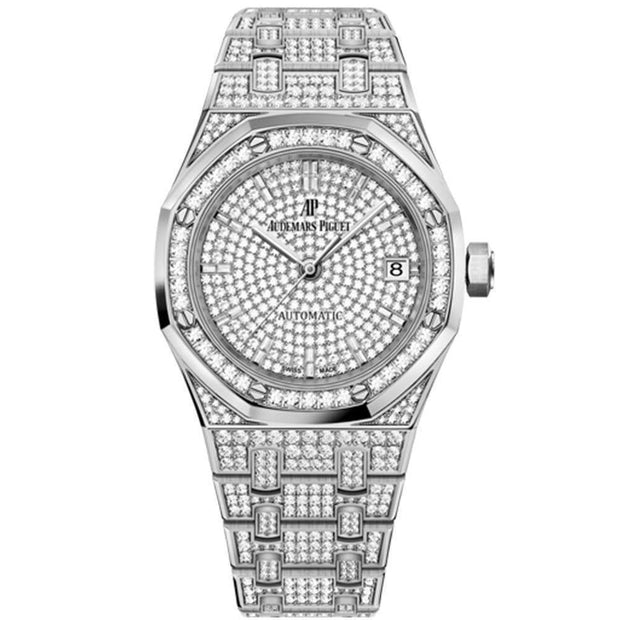 Audemars Piguet Royal Oak 37mm 15452BC Diamond Dial-First Class Timepieces