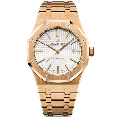 Audemars Piguet Royal Oak 41mm 15400OR White Dial-First Class Timepieces