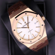Audemars Piguet Royal Oak 41mm 15400OR White Dial Pre-Owned-First Class Timepieces